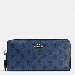 COACH ACCORDION ZIP WALLET IN PRINTED CROSSGRAIN LEATHER - SVDSS - F52777