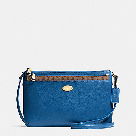 COACH EAST/WEST POP CROSSBODY IN CROSSGRAIN LEATHER -  IMDEN - f52881