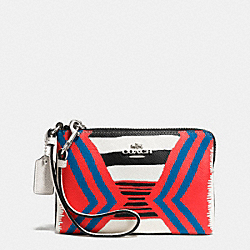 COACH CORNER ZIP WRISTLET IN PRINTED CROSSGRAIN LEATHER - SVE2O - F52926
