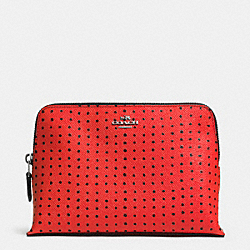 COACH COSMETIC CASE IN PRINTED LEATHER - SVE4W - F52927