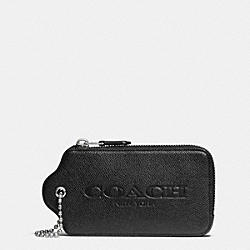 HANGTAG MULTIFUNCTION CASE IN PRINTED CROSSGRAIN LEATHER - SVDSS - COACH F52928