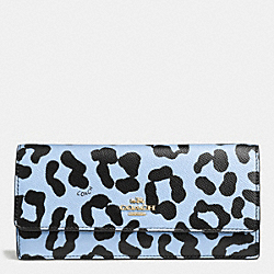 COACH SOFT WALLET IN OCELOT PRINT LEATHER - LIPBU - F52931