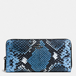 COACH ACCORDION ZIP WALLET IN PYTHON EMBOSSED LEATHER - QBDOD - F52964