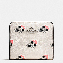 COACH SMALL WALLET IN PRINTED CROSSGRAIN LEATHER - SVDRL - F52966