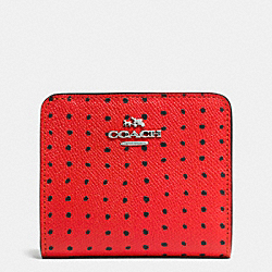 SMALL WALLET IN PRINTED CROSSGRAIN LEATHER - SVE4W - COACH F52966