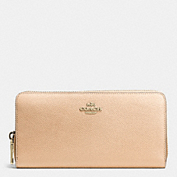 COACH ACCORDION ZIP WALLET IN COLORBLOCK CROSSGRAIN LEATHER - LIDTI - F52976