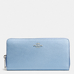 COACH ACCORDION ZIP WALLET IN COLORBLOCK CROSSGRAIN LEATHER - SVDTC - F52976
