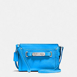 COACH COACH SWAGGER WRISTLET IN PEBBLE LEATHER - SILVER/AZURE - F53032