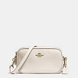 COACH CROSSBODY POUCH IN PEBBLE LEATHER - LIGHT GOLD/CHALK - F53034