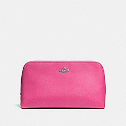 COSMETIC CASE 22 IN CROSSGRAIN LEATHER - SILVER/DAHLIA - COACH F53066