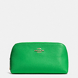 COACH COSMETIC CASE 17 IN CROSSGRAIN LEATHER - LIGRN - F53067