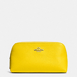 COACH COSMETIC CASE 17 IN CROSSGRAIN LEATHER - LIYLW - F53067