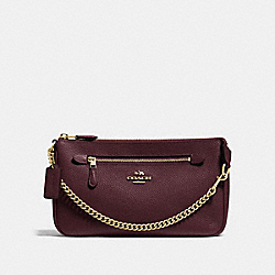 NOLITA WRISTLET 24 - OXBLOOD/LIGHT GOLD - COACH F53078