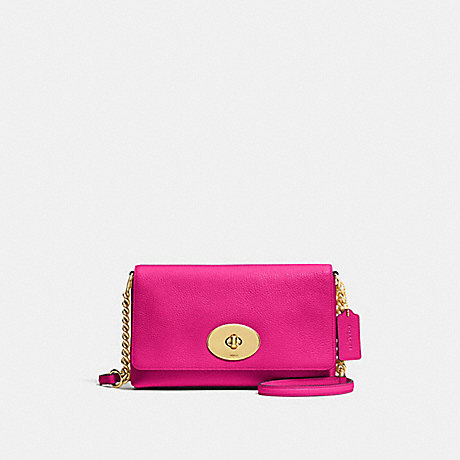 COACH f53083 CROSSTOWN CROSSBODY CERISE/LIGHT GOLD