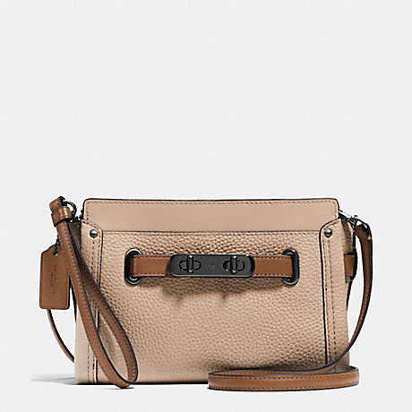 COACH COACH SWAGGER WRISTLET IN COLORBLOCK LEATHER - DARK GUNMETAL/BEECHWOOD MULTI - f53107
