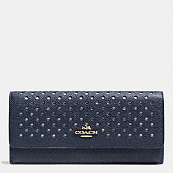 SOFT WALLET IN PERFORATED LEATHER - LIBGE - COACH F53168