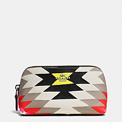 COACH COSMETIC CASE 17 IN PRINTED CROSSGRAIN LEATHER - SVE2M - F53216