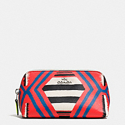COSMETIC CASE 17 IN PRINTED CROSSGRAIN LEATHER - SVE2O - COACH F53216