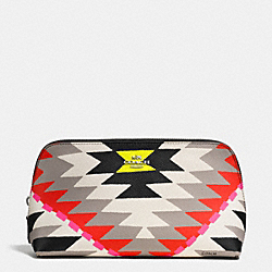 COACH COSMETIC CASE 22 IN PRINTED CROSSGRAIN LEATHER - SVE2M - F53219