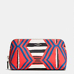 COSMETIC CASE 22 IN PRINTED CROSSGRAIN LEATHER - SVE2O - COACH F53219