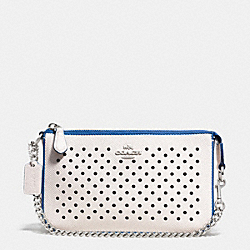 NOLITA WRISTLET 19 IN PERFORATED LEATHER - SVDUV - COACH F53225