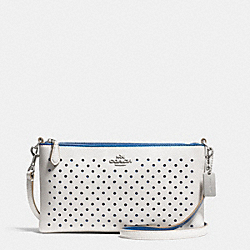 COACH HERALD CROSSBODY IN PERFORATED LEATHER - SVDUV - F53231