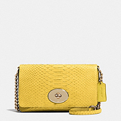 COACH CROSSTOWN CROSSBODY IN EMBOSSED PYTHON LEATHER - LIYLW - F53253