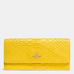 COACH SOFT WALLET IN PYTHON EMBOSSED LEATHER - LIYLW - F53307