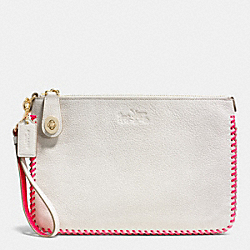 COACH TURNLOCK WRISTLET 26 IN POP LACING WHIPLASH LEATHER - LIE1K - F53329