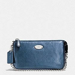 COACH LARGE WRISTLET 19 IN PEBBLE LEATHER - SVBL9 - F53340