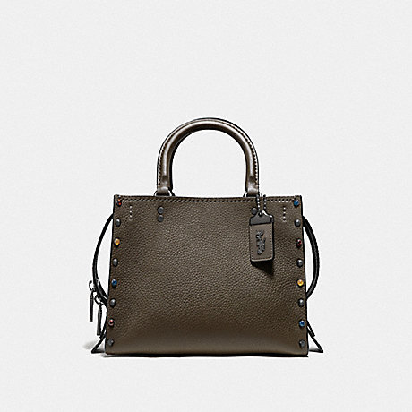 COACH ROGUE 25 WITH RIVETS - V5/DARK OLIVE - F53405
