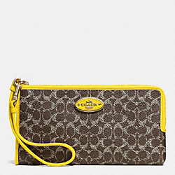 COACH L-ZIP WALLET IN EMBOSSED SIGNATURE - LIDZ6 - F53412