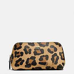 COSMETIC CASE 17 IN OCELOT PRINT HAIRCALF - f53438 - IMITATION GOLD/NEUTRAL
