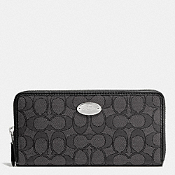COACH SLIM ENVELOPE WALLET IN SIGNATURE - SILVER/BLACK SMOKE/BLACK - F53539