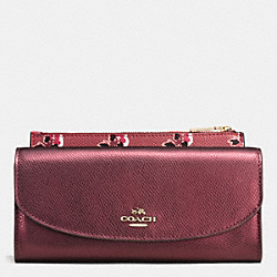 POP SLIM ENVELOPE IN BRAMBLE ROSE LEATHER - IMEET - COACH F53570