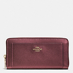 ACCORDION ZIP WALLET IN BRAMBLE ROSE IN LEATHER - IMEET - COACH F53571