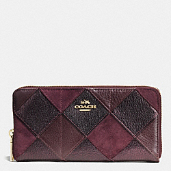 COACH ACCORDION ZIP WALLET IN PATCHWORK LEATHER - IMREM - F53643