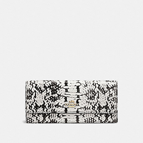 COACH SOFT WALLET IN COLORBLOCK - BLACK/LIGHT GOLD - f53654