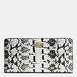 SKINNY WALLET IN COLORBLOCK - f53684 - BLACK/LIGHT GOLD