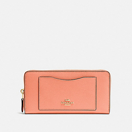 COACH ACCORDION ZIP WALLET - SUNRISE/light gold - f54007