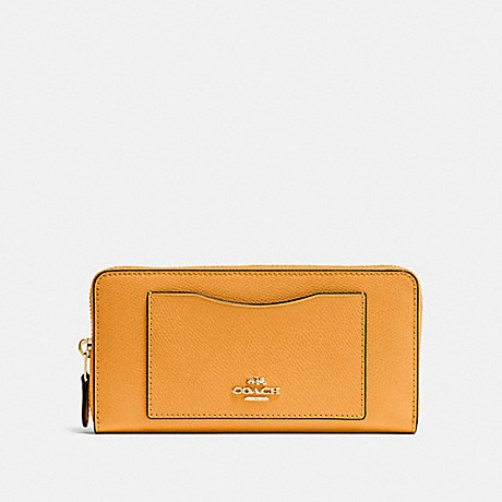 COACH ACCORDION ZIP WALLET - GOLDENROD/light gold - f54007