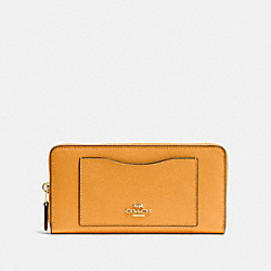 ACCORDION ZIP WALLET - GOLDENROD/LIGHT GOLD - COACH F54007