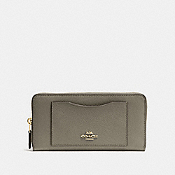 ACCORDION ZIP WALLET - MILITARY GREEN/GOLD - COACH F54007