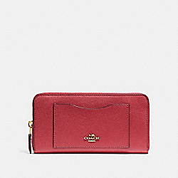 ACCORDION ZIP WALLET - WASHED RED/GOLD - COACH F54007