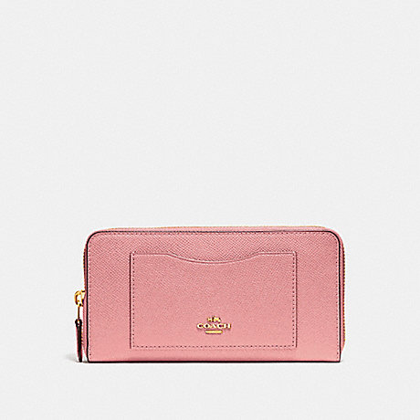 COACH ACCORDION ZIP WALLET - Vintage Pink/Imitation Gold - f54007