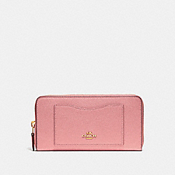 ACCORDION ZIP WALLET - VINTAGE PINK/IMITATION GOLD - COACH F54007