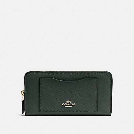 COACH ACCORDION ZIP WALLET - IVY/IMITATION GOLD - F54007