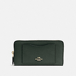 ACCORDION ZIP WALLET - IVY/IMITATION GOLD - COACH F54007