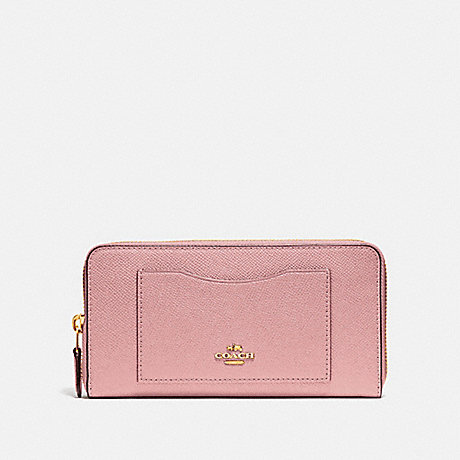 COACH ACCORDION ZIP WALLET - IM/PINK PETAL - F54007