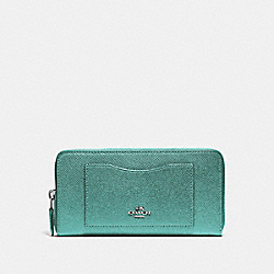ACCORDION ZIP WALLET - BLUE GREEN/BLACK ANTIQUE NICKEL - COACH F54007